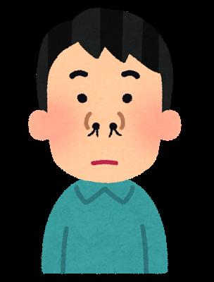鼻毛が出ている男性のイラスト