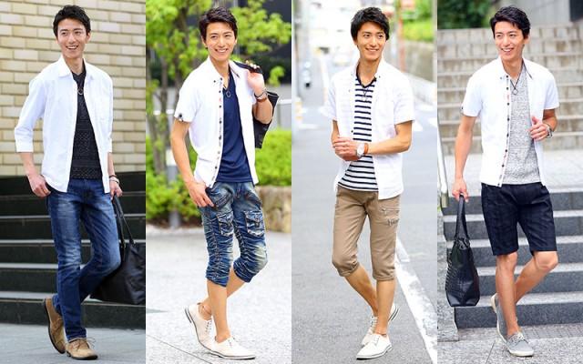 白シャツを着ている男性