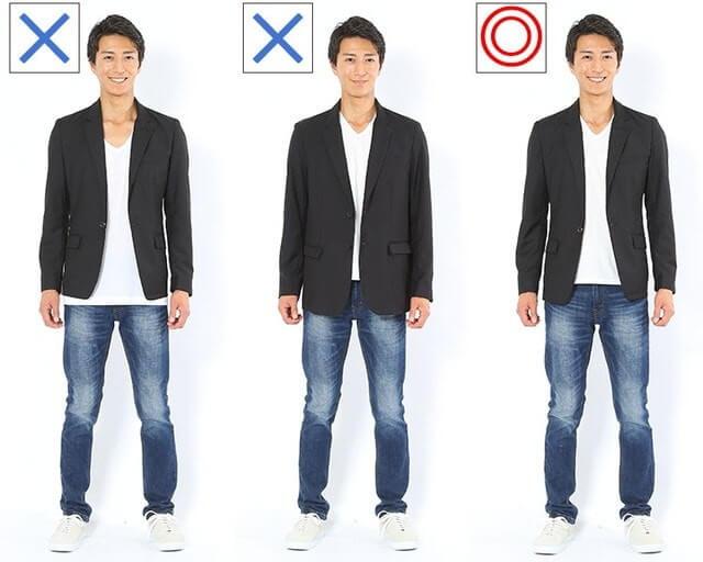 キレイめな男性のファッション画像